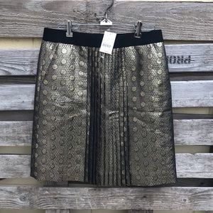 NWT J Crew Gold Coin A-line Skirt Size 4.